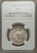Chile, Chile: Republic 50 Centavos 1872-So MS62 NGC,...