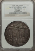 Italy, Italy: Papal States. Clement X Piastra 1675 AU50 NGC,...