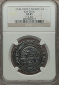 Mexico, Mexico: Charles and Johanna 4 Reales ND (1542-55) M-G XF45 NGC,...