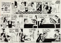 Original Comic Art:Comic Strip Art, Cliff Sterrett Polly and Her Pals Sunday Comic Strip Original Art dated 1-29-56 (King Features Syndicate, 1956)....