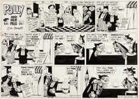 Cliff Sterrett Polly and Her Pals Sunday Comic Strip Original Art dated 1-29-56 (King Features Syndicate, 1956)