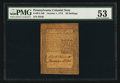 Colonial Notes:Pennsylvania, Pennsylvania October 1, 1773 20s PMG About Uncirculated 53.. ...