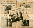 Miscellaneous:Newspaper, [John F. Kennedy] [Newspaper]. Pair of Issues of The El PasoTimes Containing Material Relating to Kennedy's Assas...