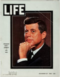 Books:Periodicals, [John F. Kennedy]. Life, November 29, 1963. The John F.Kennedy Issue. Some tearing at staples. Very good. . ...