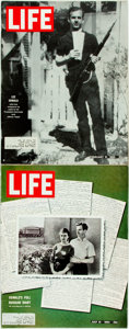 Books:Periodicals, [Lee Harvey Oswald]. Pair of Issues of Life. February 21,1964 and July 10, 1964. Some rubbing and wrinkling to ...
