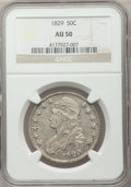 Bust Half Dollars: , 1829 50C AU50 NGC. NGC Census: (71/763). PCGS Population (155/744).Mintage: 3,712,156. Numismedia Wsl. Price for problem f...