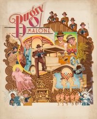 CHARLES MOLL (American, 20th Century) Bugsy Malone, movie poster illustration, 1976 Mixed media on b