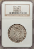 Bust Half Dollars: , 1830 50C Small 0 AU58 NGC. NGC Census: (299/396). PCGS Population(233/314). Mintage: 4,764,800. Numismedia Wsl. Price for ...