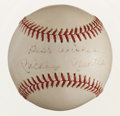 "Baseball Collectibles:Balls, Mickey Mantle ""Best Wishes"" Single Signed Baseball...."