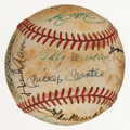 Baseball Collectibles:Balls, Baseball Greats and Hall of Famers Multi Signed Baseball (20 Signatures)....