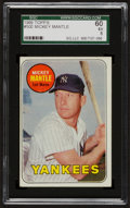 Baseball Cards:Singles (1960-1969), 1969 Topps Mickey Mantle, Yellow Letters #500 SGC 60 EX 5....