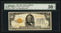 Small Size:Gold Certificates, Fr. 2404 $50 1928 Gold Certificate. PMG About Uncirculated 50 EPQ.. ...