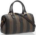 Luxury Accessories:Bags, Fendi Pequin Striped Waxed Canvas Bag. ...