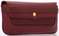 Luxury Accessories:Bags, Cartier Burgundy Leather Clutch Bag. ...
