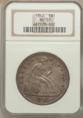 Seated Dollars: , 1842 $1 AU55 NGC. NGC Census: (90/154). PCGS Population (71/120).Mintage: 184,618. Numismedia Wsl. Price for problem free ...
