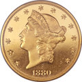 Proof Liberty Double Eagles, 1880 $20 PR65 Deep Cameo PCGS Secure. CAC....