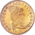 Early Eagles, 1801 $10 MS63 PCGS. BD-2, R.2....