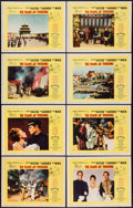 """Movie Posters:Adventure, 55 Days at Peking (Allied Artists, 1963). Lobby Card Set of 8 (11""""X 14""""). Adventure.. ... (Total: 8 Items)"""