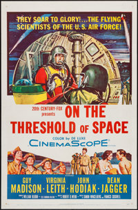 """On the Threshold of Space (20th Century Fox, 1956). One Sheet (27"""" X 41""""). Drama"""