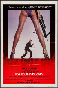 "For Your Eyes Only (United Artists, 1981). One Sheet (27"" X 41""). James Bond"