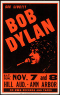 "Movie Posters:Rock and Roll, Bob Dylan Concert (CBS, 1981). Window Card (14"" X 22""). Rock andRoll.. ..."