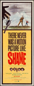 "Movie Posters:Western, Shane (Paramount, R-1966). Insert (14"" X 36""). Western.. ..."