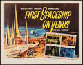 """Movie Posters:Science Fiction, First Spaceship on Venus (Crown International, 1962). Half Sheet(22"""" X 28""""). Science Fiction.. ..."""