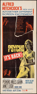 "Movie Posters:Hitchcock, Psycho (Paramount, R-1965). Insert (14"" X 36""). Hitchcock.. ..."