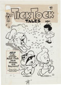 Original Comic Art:Covers, Tick Tock Tales #31 Cover Original Art (MagazineEnterprises, 1951).... (Total: 2 Original Art)