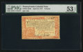 Colonial Notes:Pennsylvania, Pennsylvania April 10, 1777 £4 PMG About Uncirculated 53 EPQ.. ...
