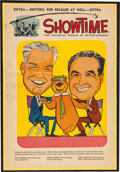 Animation Art:Poster, Hanna-Barbera Showtime Yogi Bear Ad Slick (Showtime, c.1960's)....