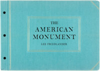 Lee Friedlander. SIGNED. The American Monument. New York: Eakins Press, [1976]. First Edition