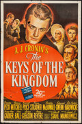 "Movie Posters:Drama, The Keys of the Kingdom (20th Century Fox, 1944). One Sheet (27"" X41"") Style A. Drama.. ..."