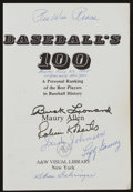 Baseball Collectibles:Publications, Baseball Hall of Famers Multi Signed Book - Loaded With Signatures!...