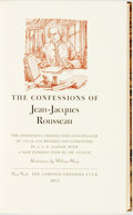 Books:Biography & Memoir, [Limited Editions Club]. William Sharp, illustrator. SIGNED. TheConfessions of Jean-Jacques Rousseau. New York: Lim...