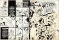 Original Comic Art:Covers, Howard Bender and Dick Giordano The Best of DC #48 Front andBack Cover Original Art (DC, 1984)....