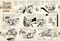 Mac Raboy Flash Gordon Sunday Comic Strip Original Art dated 12-26-54 (King Features Syndicate, 1954)