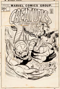 Original Comic Art:Covers, Gil Kane and Joe Sinnott Creatures on the Loose #18 Cover Original Art (Marvel, 1972)....