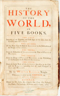 Books:World History, Sir Walter Raleigh. The History of the World. London:Basset, Chiswell, Tooke, Passenger, Dawes, Sawbridge, Wotton a...