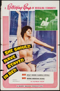 "Movie Posters:Sexploitation, She Should Have Stayed in Bed (Cinema Syndicate Inc., 1963). One Sheet (27"" X 41""). Sexploitation.. ..."