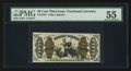 Fractional Currency:Third Issue, Fr. 1343 50¢ Third Issue Justice PMG About Uncirculated 55.. ...