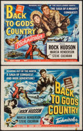 """Movie Posters:Action, Back to God's Country (Universal International, 1953). Half Sheets (2) (22"""" X 28"""") Style A & B. Action.. ... (Total: 2 Items)"""