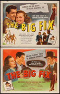 "Movie Posters:Crime, The Big Fix (PRC, 1947). Half Sheets (2) (22"" X 28"") Styles A &B. Crime.. ... (Total: 2 Items)"