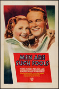 "Movie Posters:Drama, Men Are Such Fools (Warner Brothers, 1938). One Sheet (27"" X 41""). Drama.. ..."