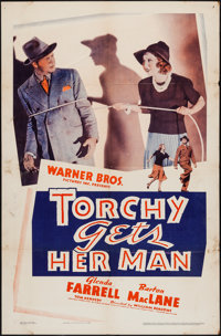 """Torchy Gets Her Man (Warner Brothers, 1938). One Sheet (27"""" X 41""""). Mystery"""