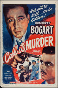 "Movie Posters:Crime, Midnight (Guaranteed Pictures, R-1947). One Sheet (27"" X 41"") FlatFolded. Crime. Re-release Title: Call It Murder.. ..."