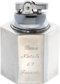 Movie/TV Memorabilia:Memorabilia, A Frank Sinatra Gifted Sterling Silver Cigarette Lighter, 1967....