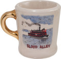 "Movie/TV Memorabilia:Memorabilia, A John Wayne-Gifted Coffee Mug from ""Blood Alley.""..."