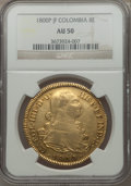 Colombia, Colombia: Charles IV gold 8 Escudos 1800 P-JF AU50 NGC,...