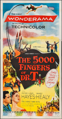 """The 5000 Fingers of Dr. T (Columbia, 1953). Three Sheet (41"""" X 78""""). Fantasy"""